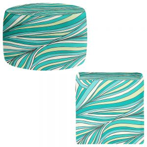 Round and Square Ottoman Foot Stools | Pom Graphic Design - Organic Forest