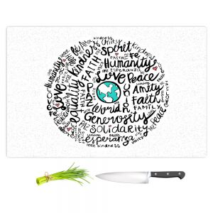 Artistic Kitchen Bar Cutting Boards | Pom Graphic Design - Positive Messages