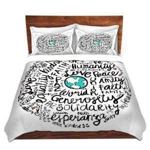 Artistic Duvet Covers and Shams Bedding   Pom Graphic Design - Positive Messages