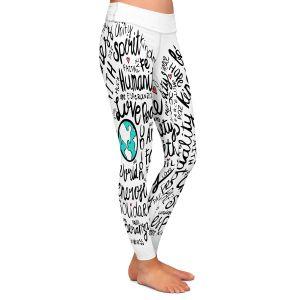 Casual Comfortable Leggings | Pom Graphic Design - Positive Messages