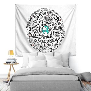 Artistic Wall Tapestry | Pom Graphic Design - Positive Messages