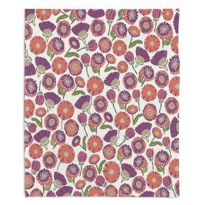 Artistic Sherpa Pile Blankets | Pom Graphic Design - Pretty Florals