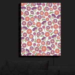 Nightlight Sconce Canvas Light | Pom Graphic Design - Pretty Florals | Flowers Floral