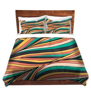 Artistic Duvet Covers and Shams Bedding | Pom Graphic Design - Retro Movement