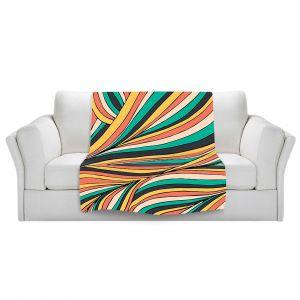 Artistic Sherpa Pile Blankets | Pom Graphic Design Retro Movement