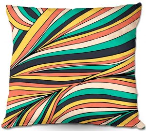 Decorative Outdoor Patio Pillow Cushion | Pom Graphic Design - Retro Movement