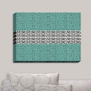 Decorative Canvas Wall Art | Pom Graphic Design - River Aqua Path