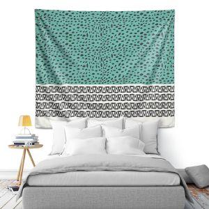Artistic Wall Tapestry   Pom Graphic Design River Aqua Path
