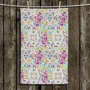 Unique Bathroom Towels | Pom Graphic Design - Romanian Inspired Pattern | Pattern Flower