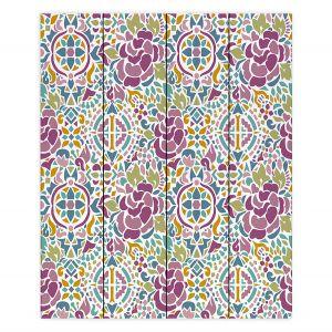 Decorative Wood Plank Wall Art | Pom Graphic Design - Romanian Inspired Pattern | Pattern Flower