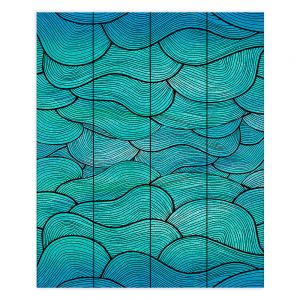 Decorative Wood Plank Wall Art   Pom Graphic Design Sea Waves Pattern