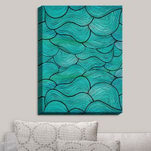 Decorative Canvas Wall Art | Pom Graphic Design - Sea Waves Pattern