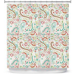 Premium Shower Curtains | Pom Graphic Design - Spring Florals | Flower Pattern