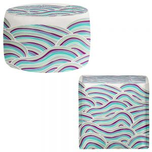 Round and Square Ottoman Foot Stools | Pom Graphic Design - Summer Fields