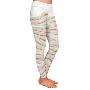 Casual Comfortable Leggings | Pom Graphic Design Summer Seawaves