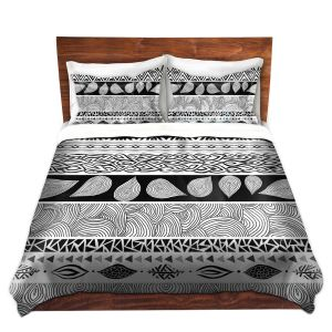 Artistic Duvet Covers and Shams Bedding | Pom Graphic Design - Tribal and Nature Play