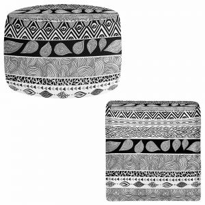 Round and Square Ottoman Foot Stools | Pom Graphic Design - Tribal and Nature Play