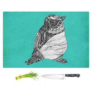 Artistic Kitchen Bar Cutting Boards | Pom Graphic Design - Tribal Penguin