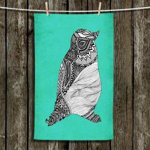 Unique Bathroom Towels | Pom Graphic Design - Tribal Penguin