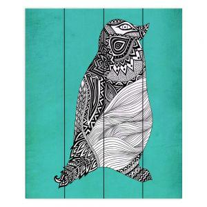 Decorative Wood Plank Wall Art   Pom Graphic Design Tribal Penguin