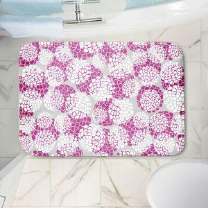 Decorative Bathroom Mats | Pom Graphic Design - Violet Floral Blossoms