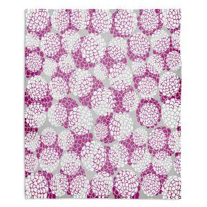 Decorative Fleece Throw Blankets | Pom Graphic Design - Violet Floral Blossoms