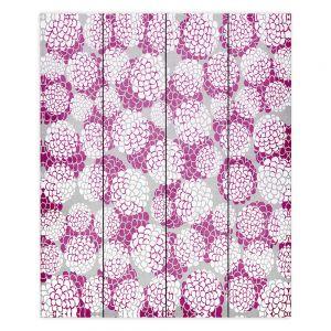 Decorative Wood Plank Wall Art   Pom Graphic Design Violet Floral Blossoms