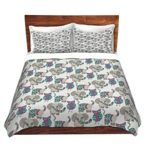 Artistic Duvet Covers and Shams Bedding | Pom Graphic Design - Whimsical Animals
