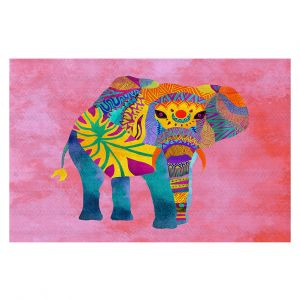 Decorative Floor Coverings | Pom Graphic Design - Whimsical Elephant Pink