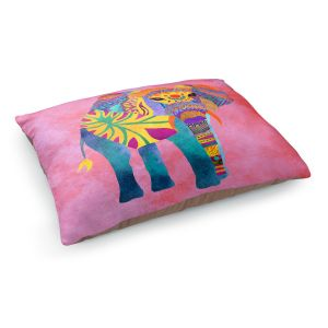 Decorative Dog Pet Beds | Pom Graphic Design - Whimsical Elephant Pink