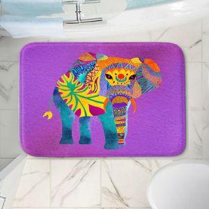 Decorative Bathroom Mats | Pom Graphic Design - Whimsical Elephant Purple