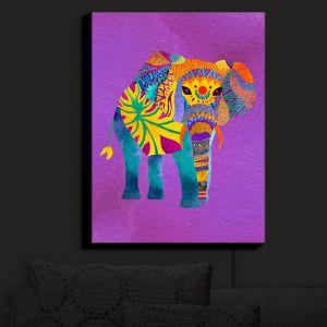 Nightlight Sconce Canvas Light | Pom Graphic Design - Whimsical Elephant Purple | Whimsical Elephants Animals