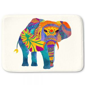 Decorative Bathroom Mats | Pom Graphic Design - Whimsical Elephant I
