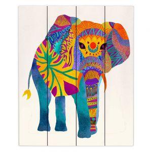 Decorative Wood Plank Wall Art | Pom Graphic Design Whimsical Elephant I