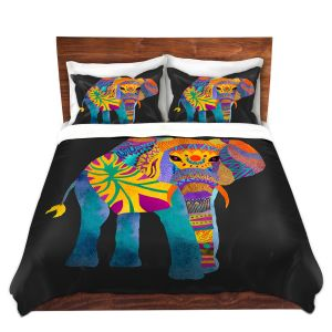 Artistic Duvet Covers and Shams Bedding | Pom Graphic Design - Whimsical Elephant II