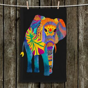 Unique Bathroom Towels | Pom Graphic Design - Whimsical Elephant II
