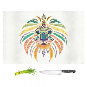 Artistic Kitchen Bar Cutting Boards | Pom Graphic Design - Whimsical Lion