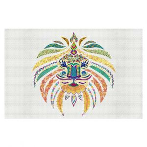 Decorative Area Rug 4 x 6 Ft from DiaNoche Designs by Pom Graphic Design - Whimsical Lion I