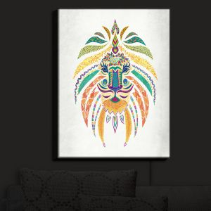Nightlight Sconce Canvas Light | Pom Graphic Design's Whimsical Lion