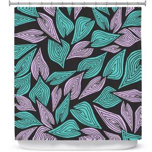 Premium Shower Curtains | Pom Graphic Design Winter Wind