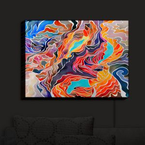 Nightlight Sconce Canvas Light | Rachel Brown - Antelope Canyon | Abstract Bright Colors