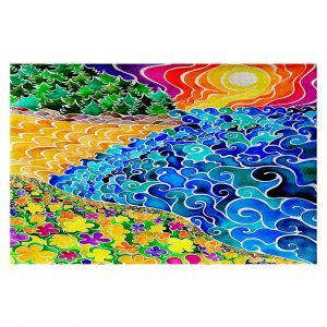 Decorative Area Rug 3 x 5 Ft from DiaNoche Designs by Rachel Brown - Big Sur