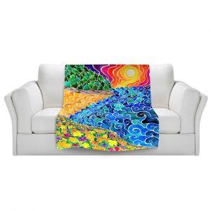 Artistic Sherpa Pile Blankets | Rachel Brown Big Sur