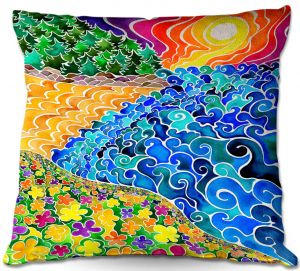 Decorative Outdoor Patio Pillow Cushion | Rachel Brown - Big Sur