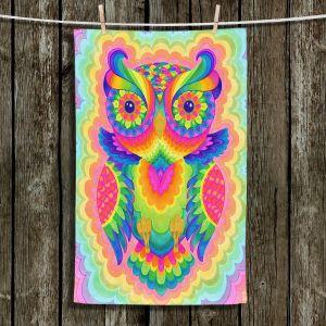 Unique Bathroom Towels | Rachel Brown - Cosmic Owl | Animals Owls