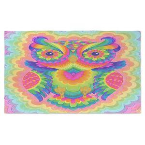 Artistic Pashmina Scarf | Rachel Brown - Cosmic Owl | Animals Owls