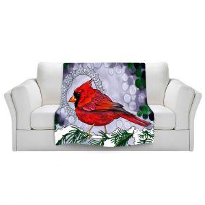 Artistic Sherpa Pile Blankets   Rachel Brown Cosmo Cardinal