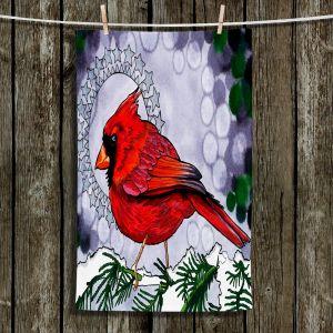 Unique Hanging Tea Towels | Rachel Brown - Cosmo Cardinal | Birds Branch