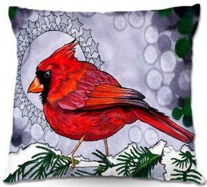 Throw Pillows Decorative Artistic | Rachel Brown Cosmo Cardinal