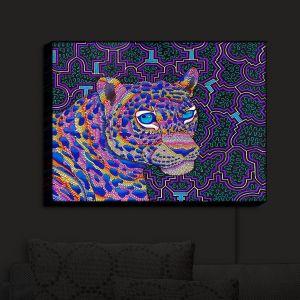 Nightlight Sconce Canvas Light | Rachel Brown - Jungle Jaguar